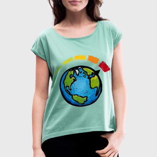Urgence Climatique - T-shirt à manches retroussées Femme
