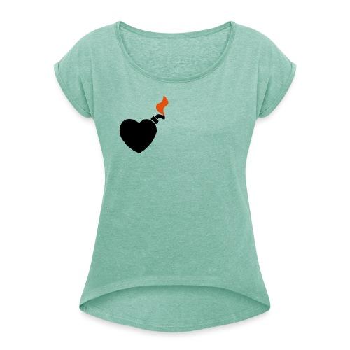 ungeduld - Frauen T-Shirt mit gerollten Ärmeln