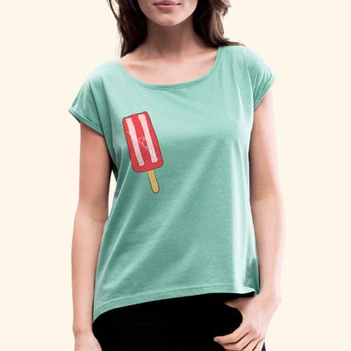 Ice cream - Maglietta da donna con risvolti