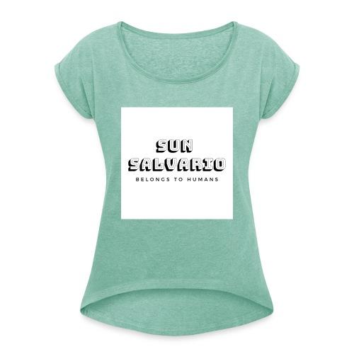SUN SALVARIO - Maglietta da donna con risvolti