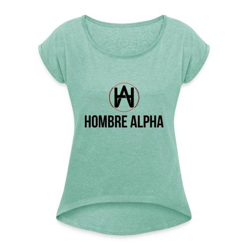 Hombre Alpha Logo - Camiseta con manga enrollada mujer