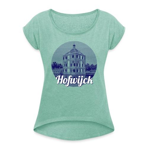 Hofwijck blauw - Vrouwen T-shirt met opgerolde mouwen