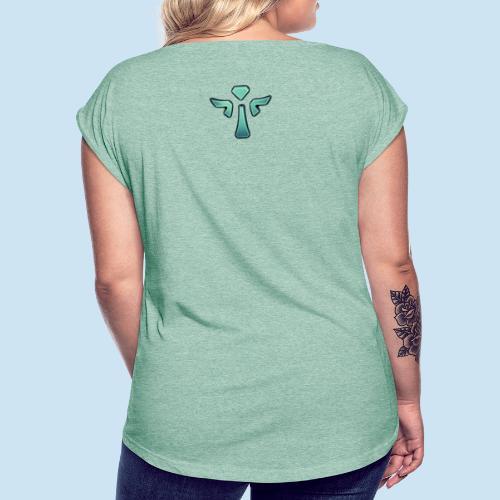 I'm support Main - T-skjorte med rulleermer for kvinner