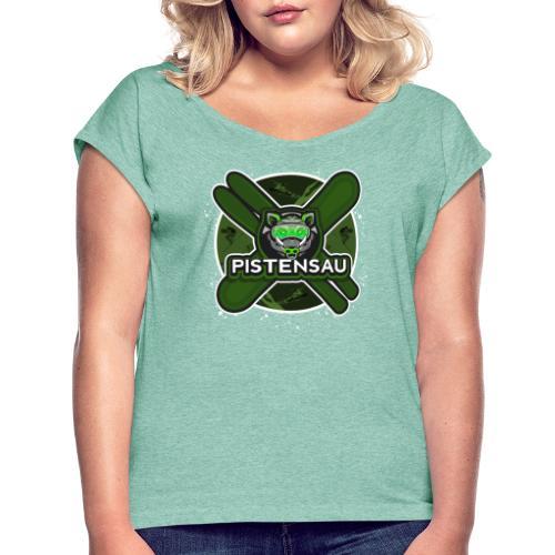 PistenSau NuClear - Frauen T-Shirt mit gerollten Ärmeln