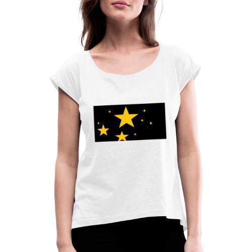 espacio - Camiseta con manga enrollada mujer
