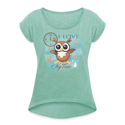 GUFO-E-TEMPO - Maglietta da donna con risvolti