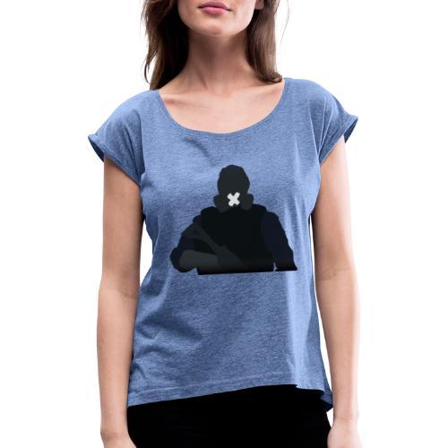 Mute - Koszulka damska z lekko podwiniętymi rękawami