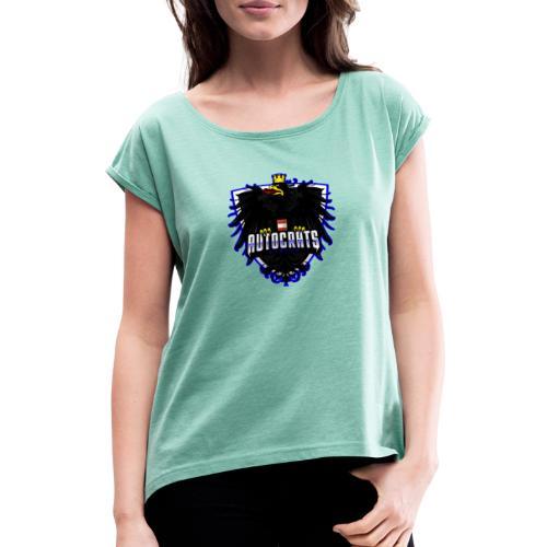 AUTocrats blue - Frauen T-Shirt mit gerollten Ärmeln