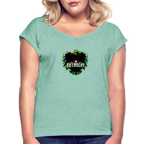 AUTarchy green - Frauen T-Shirt mit gerollten Ärmeln