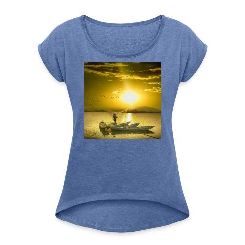 Tramonto - Maglietta da donna con risvolti