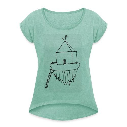 Haus von Raban - Frauen T-Shirt mit gerollten Ärmeln