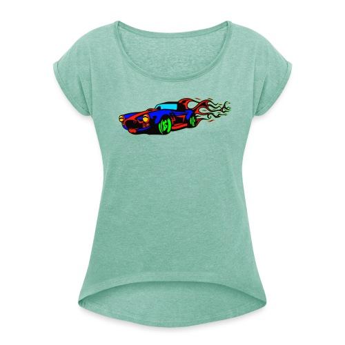 auto fahrzeug tuning - Frauen T-Shirt mit gerollten Ärmeln