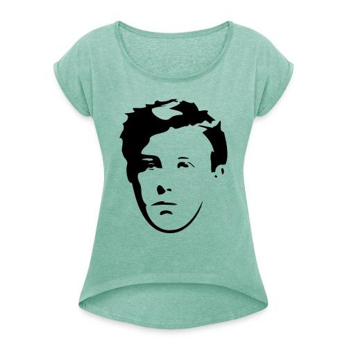 Arthur Rimbaud visage - T-shirt à manches retroussées Femme