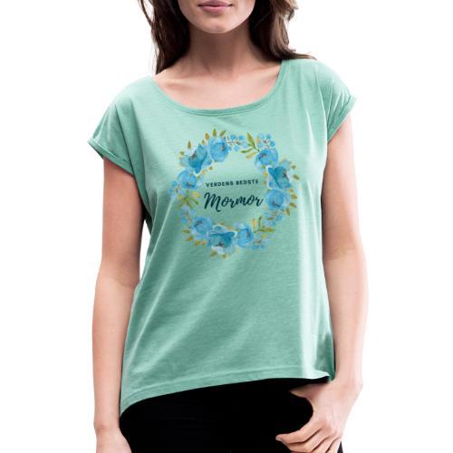 Verdens bedste mormor - Dame T-shirt med rulleærmer