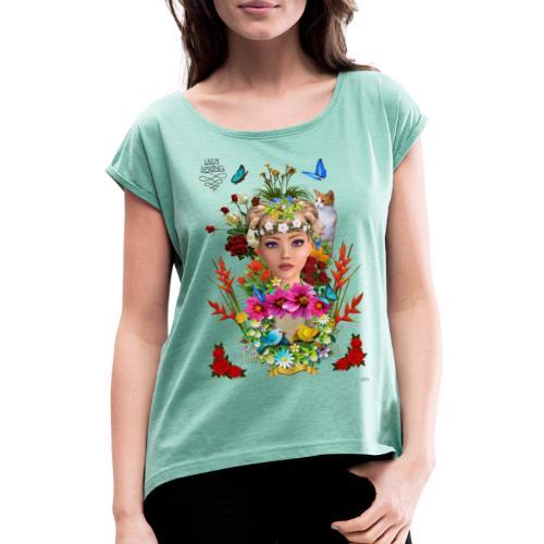 Lady spring - By t-shirt chic et choc - T-shirt à manches retroussées Femme