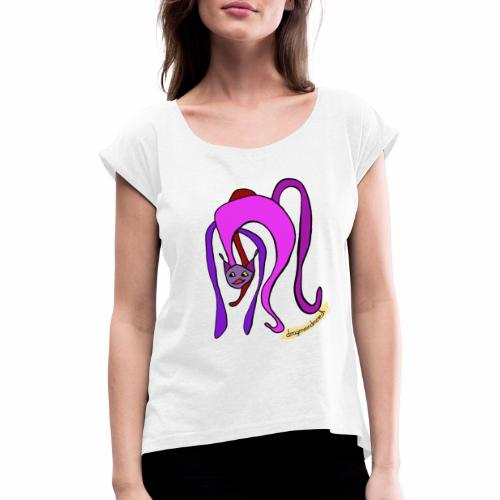 Meow! - Women's T-Shirt with rolled up sleeves