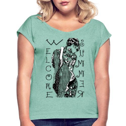 welcome summer - Maglietta da donna con risvolti
