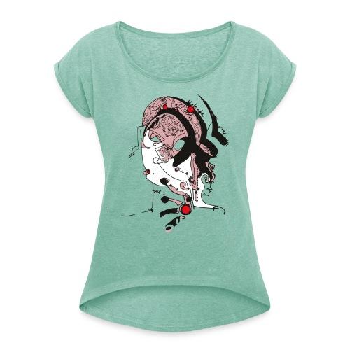kate - Frauen T-Shirt mit gerollten Ärmeln