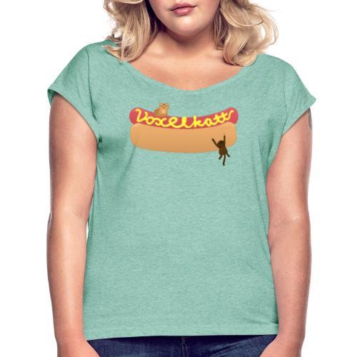 Voxelkorv - T-shirt med upprullade ärmar dam