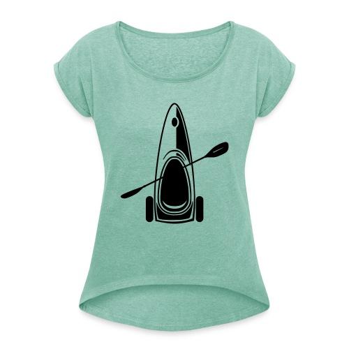 Paddelec - Frauen T-Shirt mit gerollten Ärmeln