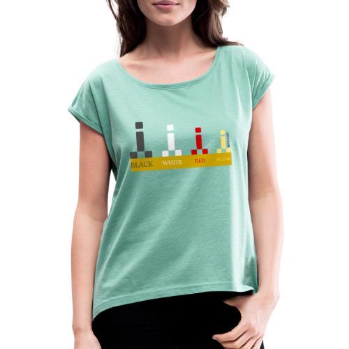 Escala para viajeros Cipotescü - Camiseta con manga enrollada mujer