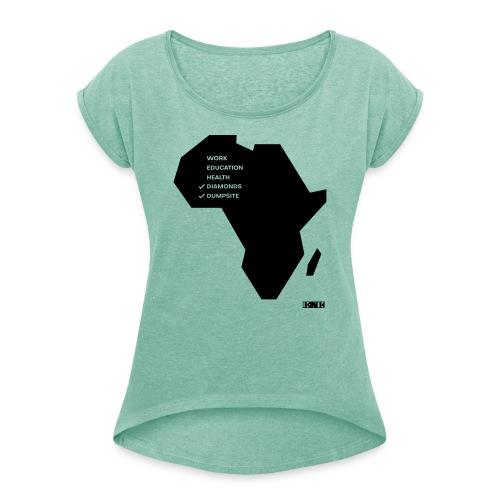 Free-Africa - Frauen T-Shirt mit gerollten Ärmeln