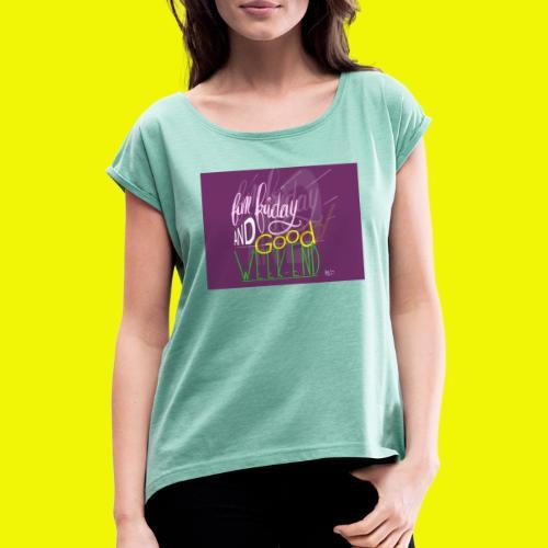 week end - T-shirt à manches retroussées Femme