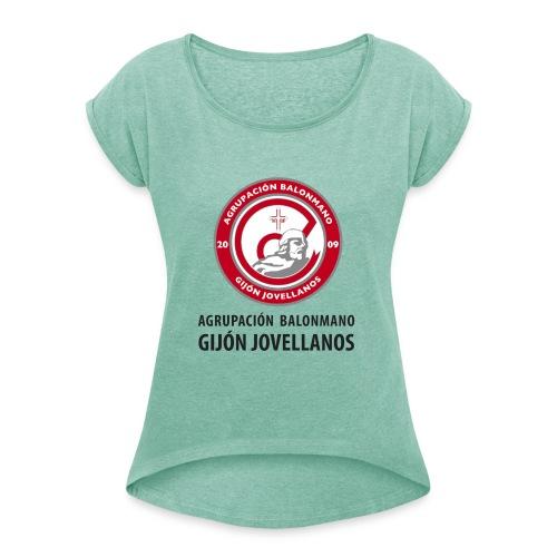 Escudo vertical básico - Camiseta con manga enrollada mujer