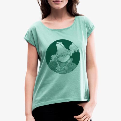 The frog - T-shirt med upprullade ärmar dam