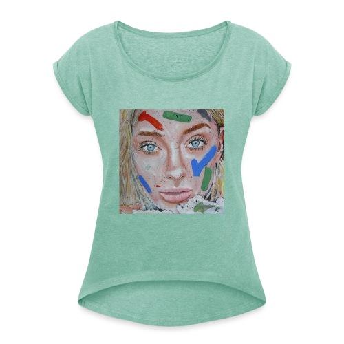 Anna - Maglietta da donna con risvolti
