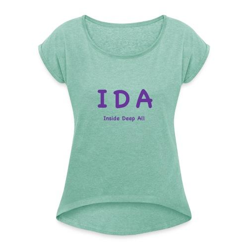 2019 06 IDA - Frauen T-Shirt mit gerollten Ärmeln