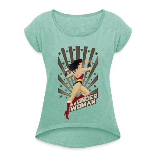 Stripes - Frauen T-Shirt mit gerollten Ärmeln