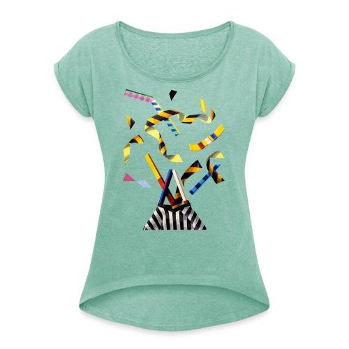 by John Norris - Dame T-shirt med rulleærmer