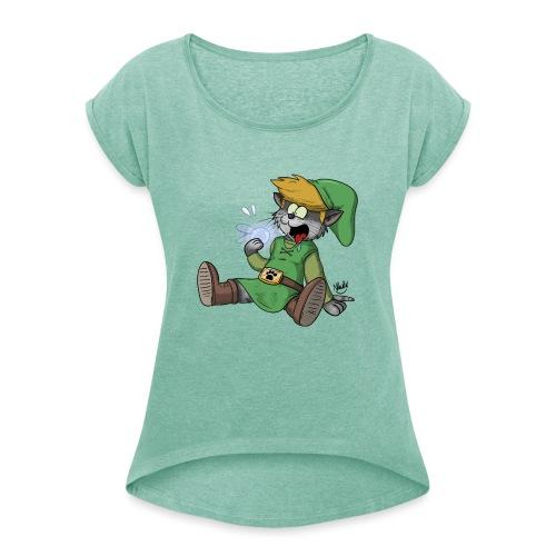 Navi se fait manger - T-shirt à manches retroussées Femme