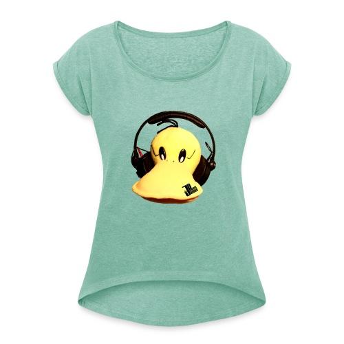 Jaques Raupé Ente - Frauen T-Shirt mit gerollten Ärmeln