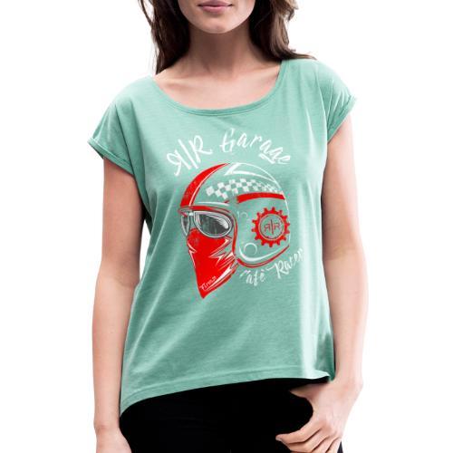 RR Garage Custom Motorcycles - Maglietta da donna con risvolti