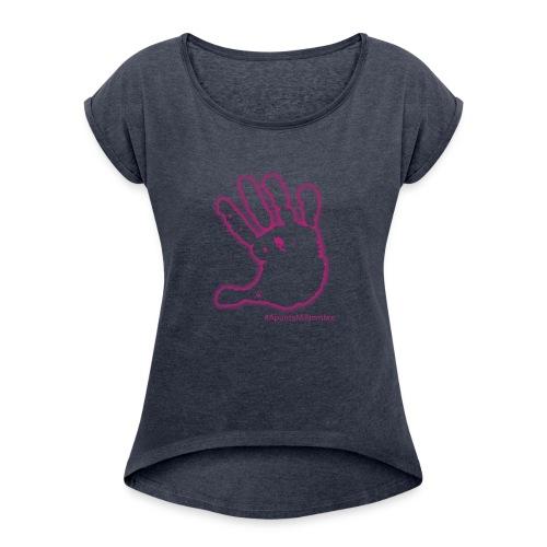 #apuntaminombre - Camiseta con manga enrollada mujer