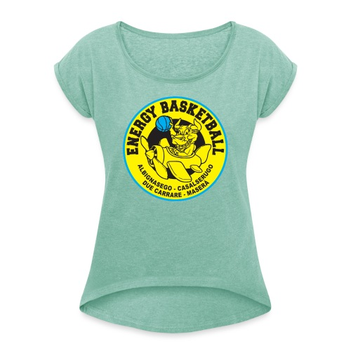 street wear energy basketball merchandising - Maglietta da donna con risvolti