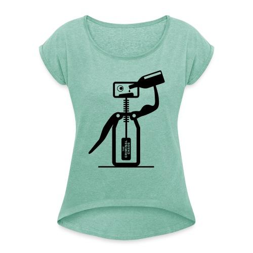 CAVATAPPI UBRIACO - Drunk corkscrew - Maglietta da donna con risvolti