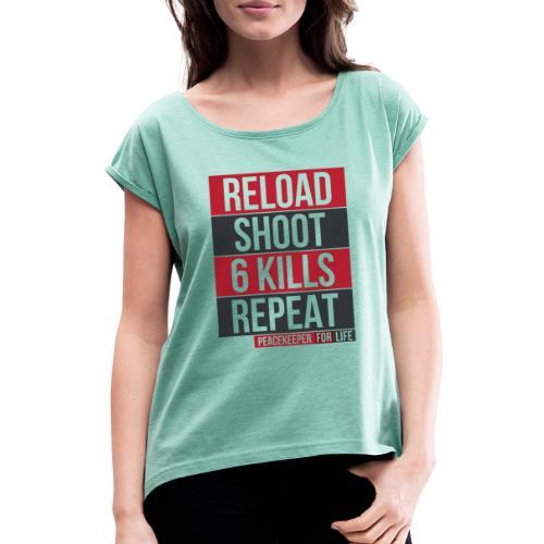 Apex Legends - Peacekeeper reload shoot - Fanart - T-shirt à manches retroussées Femme