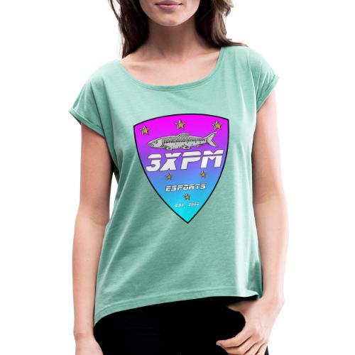 3xpm kesälogo - Naisten T-paita, jossa rullatut hihat