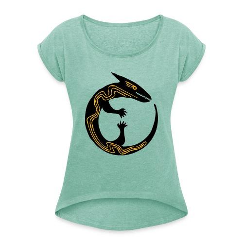 lizard - Maglietta da donna con risvolti