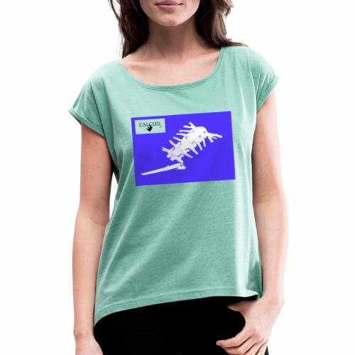 Maus - Frauen T-Shirt mit gerollten Ärmeln