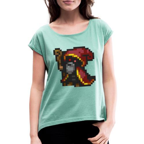 keeper logo - Koszulka damska z lekko podwiniętymi rękawami