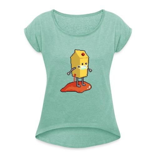 OWASP Juice Shop Bot (Corona-Edition) - Frauen T-Shirt mit gerollten Ärmeln