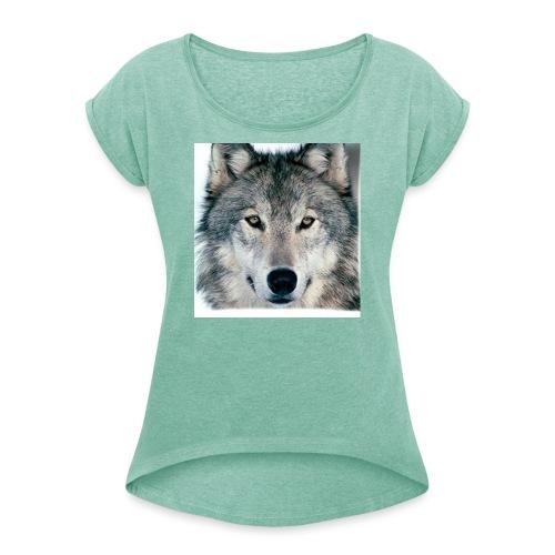 Lupo - Maglietta da donna con risvolti