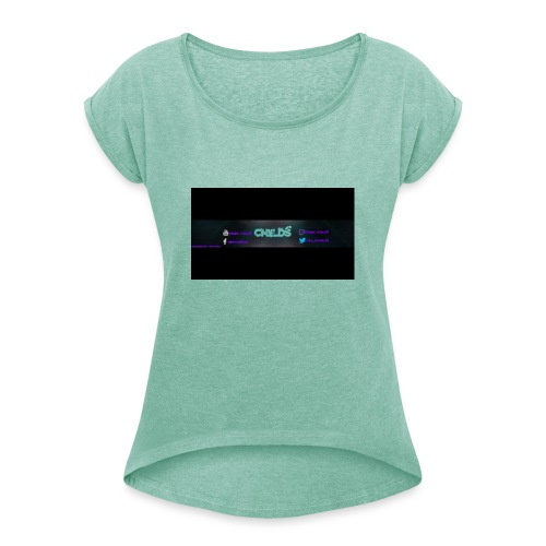 LOGO_Banner_Childs - Women's T-Shirt with rolled up sleeves