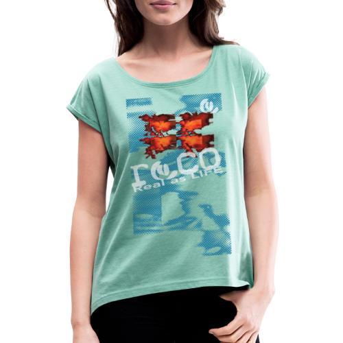 birth SQUARE shirt onblack - T-shirt à manches retroussées Femme