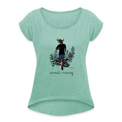 Buffle running - T-shirt à manches retroussées Femme