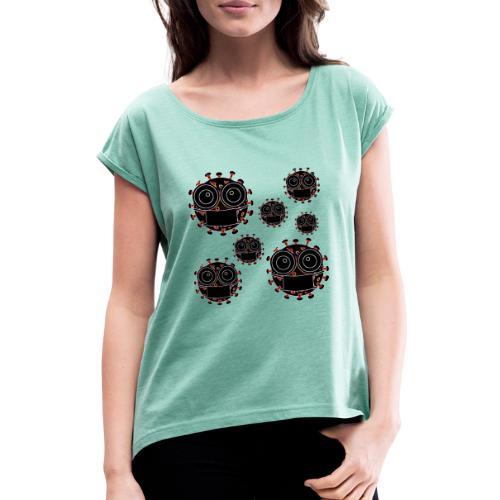 virus eseguire coronavirus covid19 allarme virus - Maglietta da donna con risvolti
